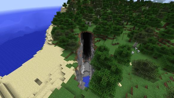 Ravine-high cave